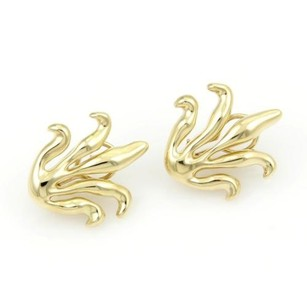 Tiffany & Co. Tiffany Co. 18kt Yellow Gold Long Leaves Design Stud Earrings