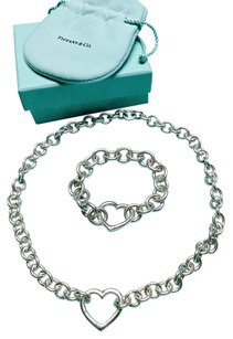 Tiffany & Co. Tiffany & Co. Open heart Clasp Toggle Necklace and Bracelet