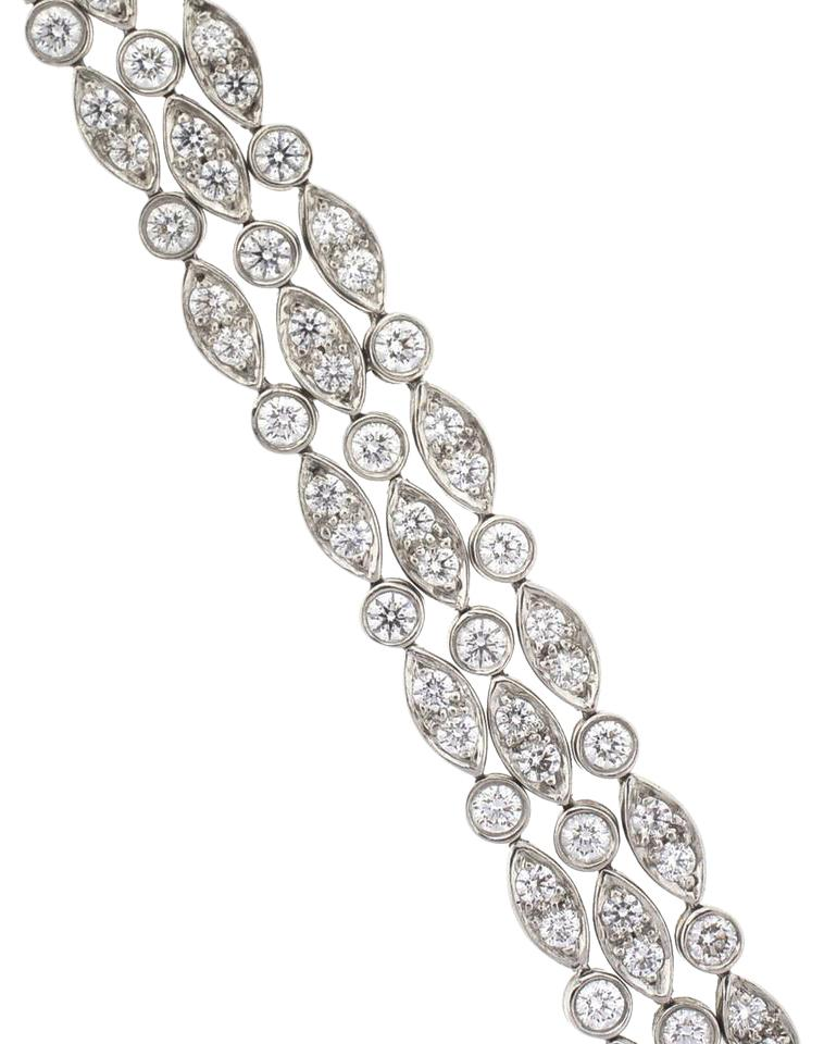 Tiffany & Co Platinum Vintage 3 Strand Diamond La s 2 5 Cts