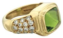 Tiffany & Co. Tiffany & Co Solid 18k Solid Yellow Gold 1.00ct Diamond & Peridot Ring