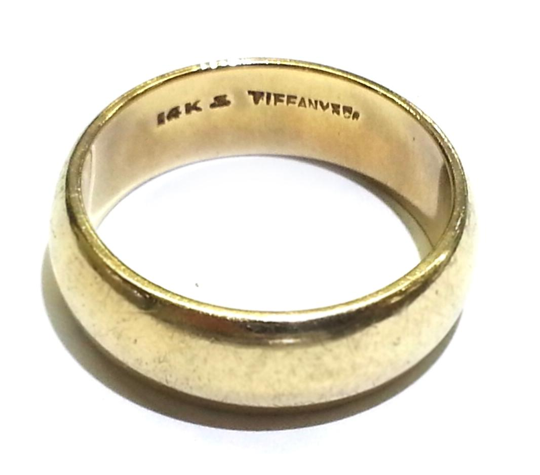 Vintage tiffany mens rings for Tiffany mens wedding ring