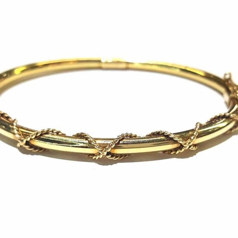 Tiffany & Co Vintage Bangle Bracelet 14 Karat Gold. 4mm Necklace. Saphire Bands. Figaro Necklace. Rolex Day Date Watches. Handmade Gemstone Jewelry. Chew Rings. Guy Bracelet. Original Grain Watches