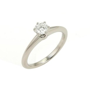 Tiffany & Co. Tiffany Co. 0.40ct H Vs1 Solitaire Diamond Platinum Ring - 5.25 Wcert