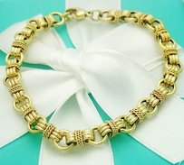 Tiffany & Co. Tiffany Co 14k Yellow Gold Bracelet For Charms 6.5mm Wide 7 B44