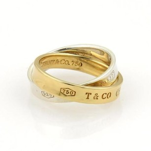 Tiffany & Co. Tiffany Co. 1837 18k Gold 925 Silver 3.5mm Double Band Ring