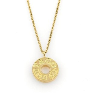 Tiffany & Co. Tiffany Co. 1837 Collection 18k Yellow Gold Round Disc Pendant Necklace