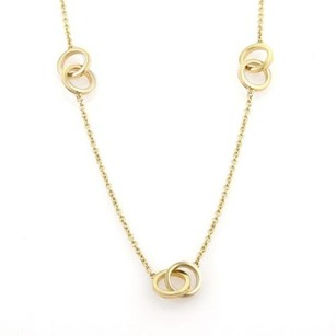 Tiffany & Co. Tiffany Co. 1837 Interlocking Circle Ring Chain Necklace In 18k Ygold