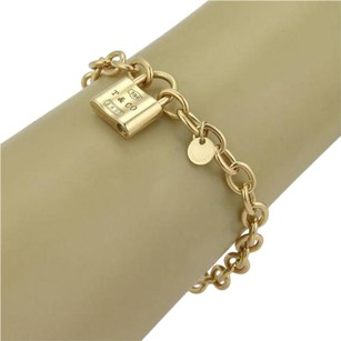 Tiffany & Co. Tiffany Co. 18k Yellow Gold 1837 Open Close Pad Lock Charm Bracelet