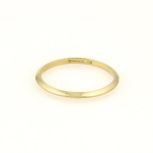 Tiffany & Co. Tiffany Co. 18k Yellow Gold 2mm Plain Knife Edge Wedding Band Ring