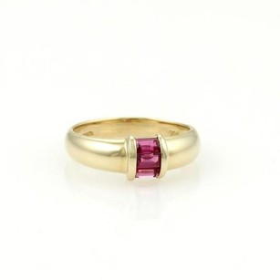 Tiffany & Co. Tiffany Co. 18k Yellow Gold Baguette Rubies Band Ring