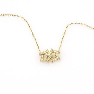 Tiffany & Co. Tiffany Co. 18k Yellow Gold Diamond Interlocking Star Pendant Necklace
