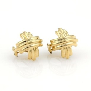Tiffany & Co. Tiffany Co. 18k Yellow Gold Signature X Crossover Earrings