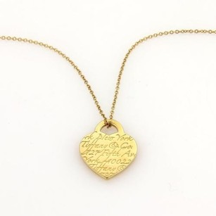Tiffany & Co. Tiffany Co. 18k Yg Tiffany Notes Heart Shaped Pendant Necklace