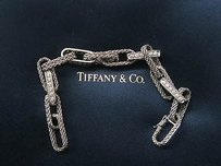 Tiffany & Co. Tiffany Co 18kt Rope Diamond White Gold Bracelet 1.44ct