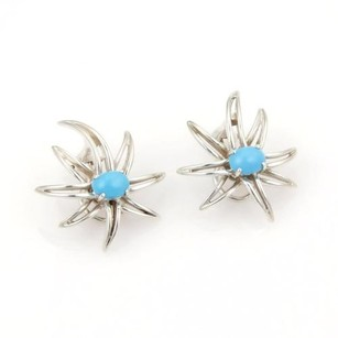 Tiffany & Co. Tiffany Co. 925 Silver Turquoise Fire Works Clip On Earrings