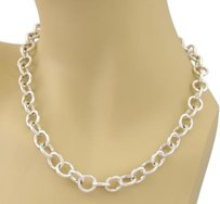 Tiffany & Co. Tiffany Co. All Round Clasping Link Necklace In Sterling Silver - 16