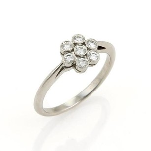 Tiffany & Co. Tiffany Co. Diamond Flower Platinum Ring - 7.25