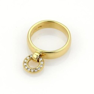 Tiffany & Co. Tiffany Co. Diamonds 18k Yellow Gold Circle Drop Charm Band Ring