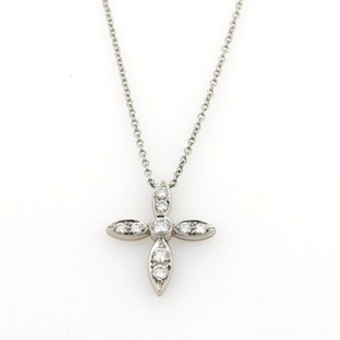 Tiffany & Co. Tiffany Co. Diamonds Platinum Cross Pendant Necklace