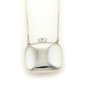Tiffany & Co. Tiffany Co. Elsa Peretti Sterling Silver Square Bottle Pendant Long Necklace