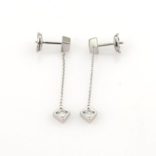 Tiffany & Co. Tiffany Co. Gehry Diamond Torque Bead Drop Dangle 18k White Gold Earrings