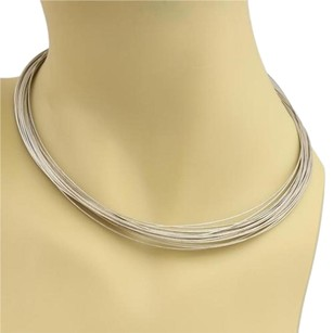 Tiffany & Co. Tiffany Co. Germany Sterling Silver Multi Wire Strand Necklace