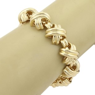 Tiffany & Co. Tiffany Co. Hefty X Crossover 18k Yellow Gold Bracelet 7.25 Long