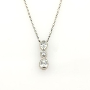 Tiffany & Co. Tiffany Co. Jazz Diamond Platinum Pendant Necklace