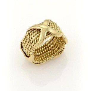 Tiffany & Co. Tiffany Co. Jean Schlumberger 18k Yellow Gold Row Rope Band Ring