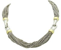 Tiffany & Co. Tiffany Co. Multi Strand Mesh 18k Gold 925 Silver Necklace N270