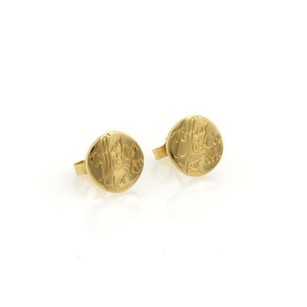 Tiffany & Co. Tiffany Co. Notes Round Stud Earrings In 18k Yellow Gold
