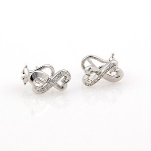 Tiffany & Co. Tiffany Co. Paloma Picasso 18k White Gold Double Loving Heart Diamond Earrings