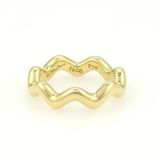 Tiffany & Co. Tiffany Co. Paloma Picasso 18k Yellow Gold Zig Zag Band Ring