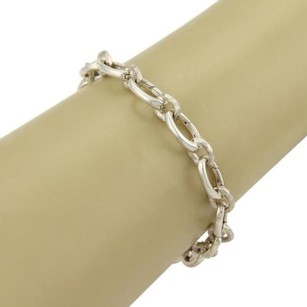 Tiffany & Co. Tiffany Co. Paloma Picasso Hammered Clasping Link Bracelet In Sterling Silver