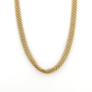 Tiffany & Co. Tiffany Co. Peretti 18k Yellow Gold Long 5mm Mesh Link Chain Necklace 36
