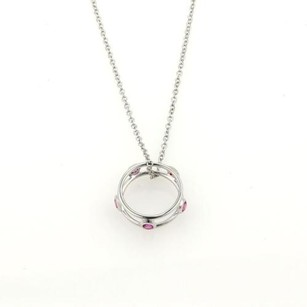 Tiffany & Co. Tiffany Co. Peretti By The Yard Pink Sapphire Pendant 18k Gold Necklace