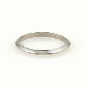 Tiffany & Co. Tiffany Co. Platinum 2mm Plain Knife Edge Wedding Band Ring 5.75