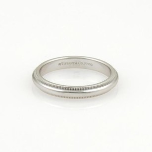 Tiffany & Co. Tiffany Co. Platinum Double Milgrain 3mm Dome Wedding Band Ring