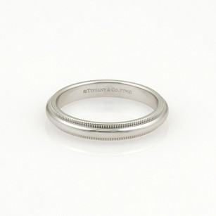 Tiffany & Co. Tiffany Co. Platinum Double Milgrain 3mm Wide Wedding Band Ring