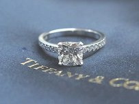 Tiffany & Co. Tiffany Co Platinum Novo Diamond Engagement Ring G-vvs2 1.22ct.16ct