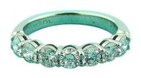 Tiffany & Co. Tiffany Co Platinum Shared Setting .91ct Diamond 3.5mm Band With Papers