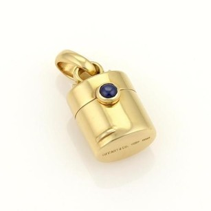 Tiffany & Co. Tiffany Co. Sapphire Classic Pill Box Charm Pendant In 18k Yellow Gold
