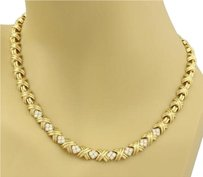 Tiffany & Co. Tiffany Co. Signature X Diamonds 18k Yellow Gold Collar Necklace