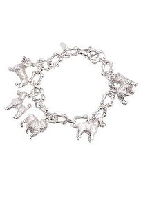 Tiffany & Co. Tiffany Co. Sterling Silver Dog Charm Bracelet