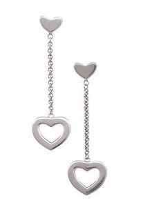 Tiffany & Co. Tiffany Co. Sterling Silver Heart Drop Earrings