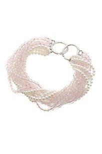 Tiffany & Co. Tiffany Co. Sterling Silver Rose Quartz Pearl Torsade Bracelet