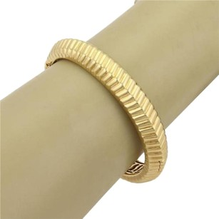 Tiffany & Co. Tiffany Co. Vintage 18k Yellow Gold Fancy Ribbed Design Bangle Bracelet