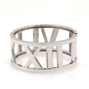 Tiffany & Co. Tiffany Co. Wide Atlas Numerical Bangle 18k White Gold - - Med.
