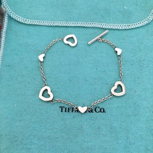 Tiffany & Co. Tiffany Silver Open Heart Lariat Toggle 7.25