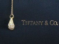Tiffany & Co. Tiffany Co 18kt Elsa Peretti Teardrop Diamond Pendant Yellow Gold .82ct